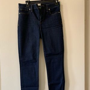 Madewell dark wash high riser skinny jean